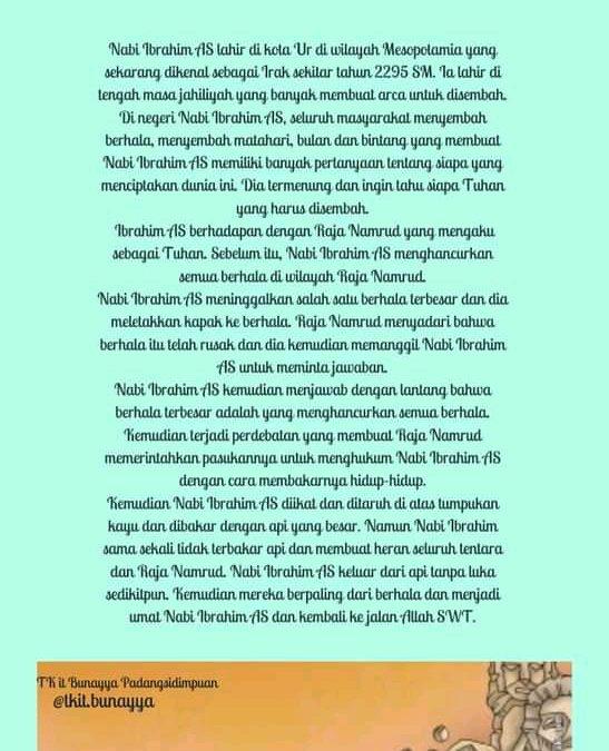 Shiroh Nabi Ibrahim As TKIT Bunayya