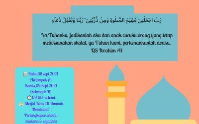 Praktek Sholat Zuhur ananda TKIT Bunayya